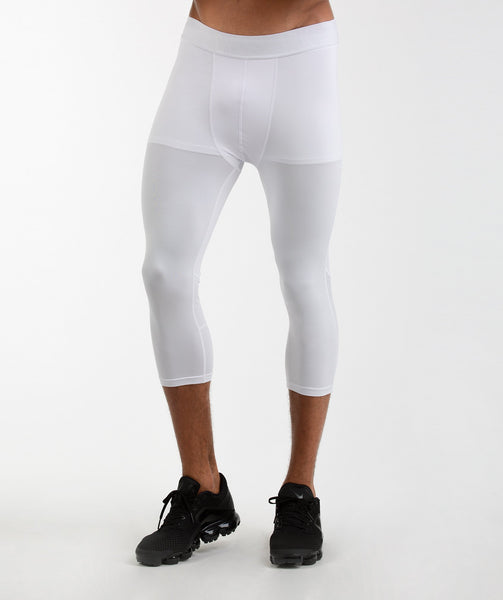 Gymshark Element Baselayer 3/4 Leggings - White 1