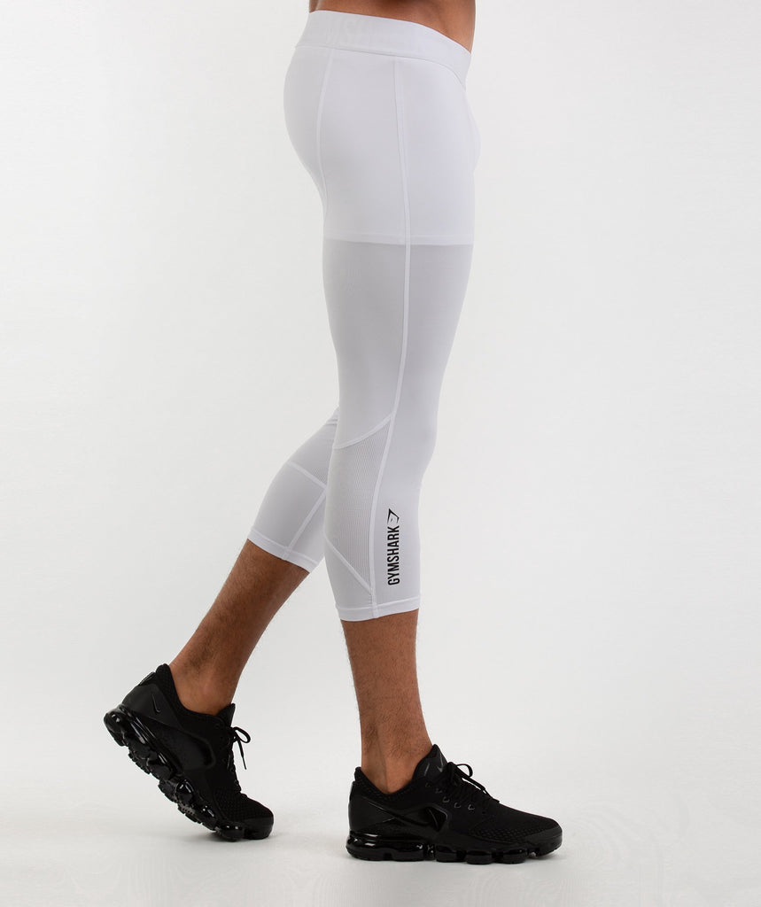 Gymshark Element Baselayer 3/4 Leggings - White 4