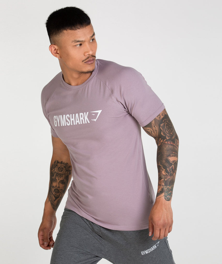 Gymshark Apollo T-Shirt - Purple Chalk/White 1