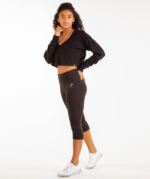 Gymshark Towel Sweater - Black 3