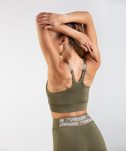 Gymshark Elevate Sports Bra - Khaki 1