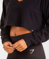 Gymshark Towel Sweater - Black 12