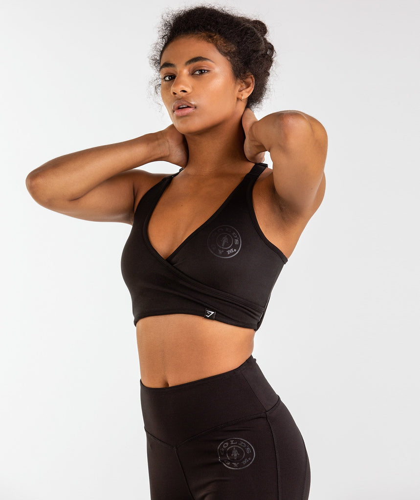 Gymshark Golds Gym Sports Bra - Black 1