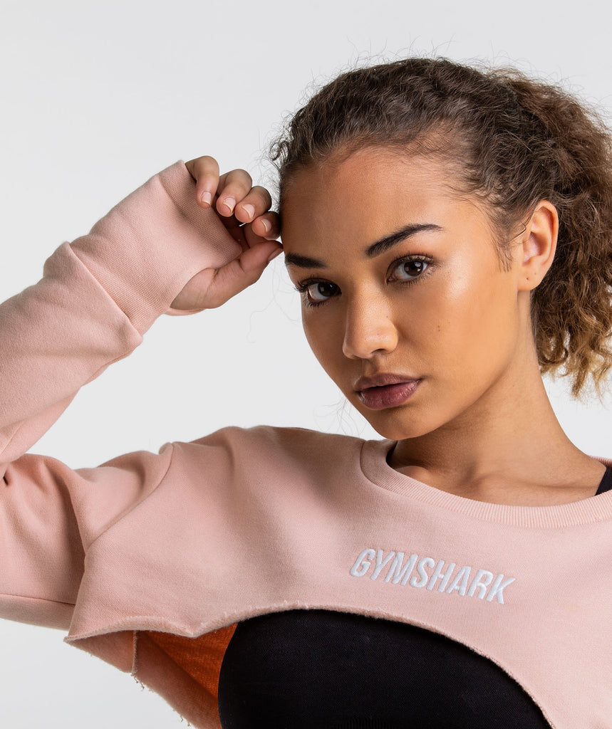 Gymshark Super Cropped Sweater - Blush Nude 6