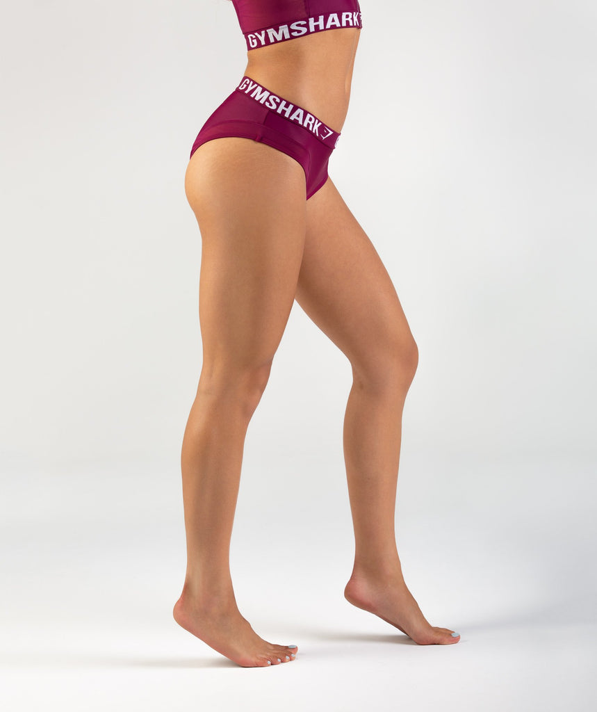 Gymshark Charge Sports Bikini Bottoms - Deep Plum 2