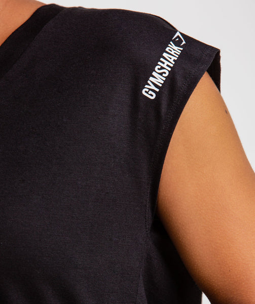 Gymshark Pleat Back Tee - Black 4