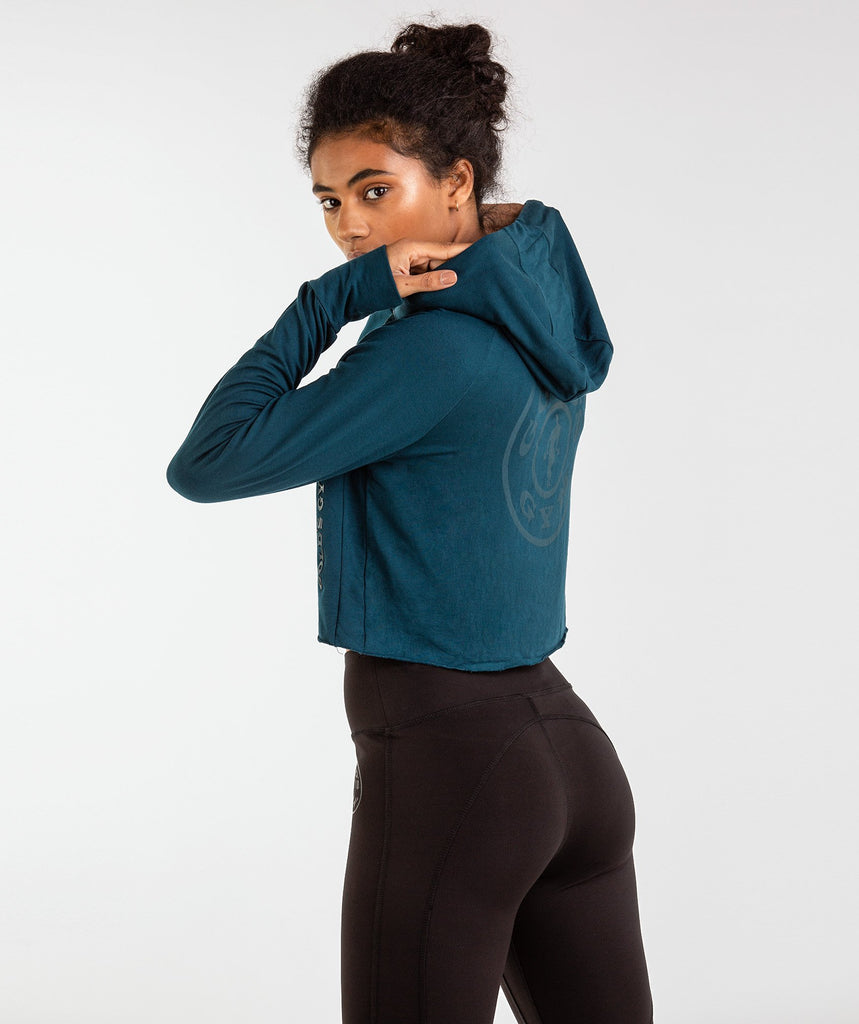Gymshark Golds Gym Cropped Pullover - Lagoon Blue 2