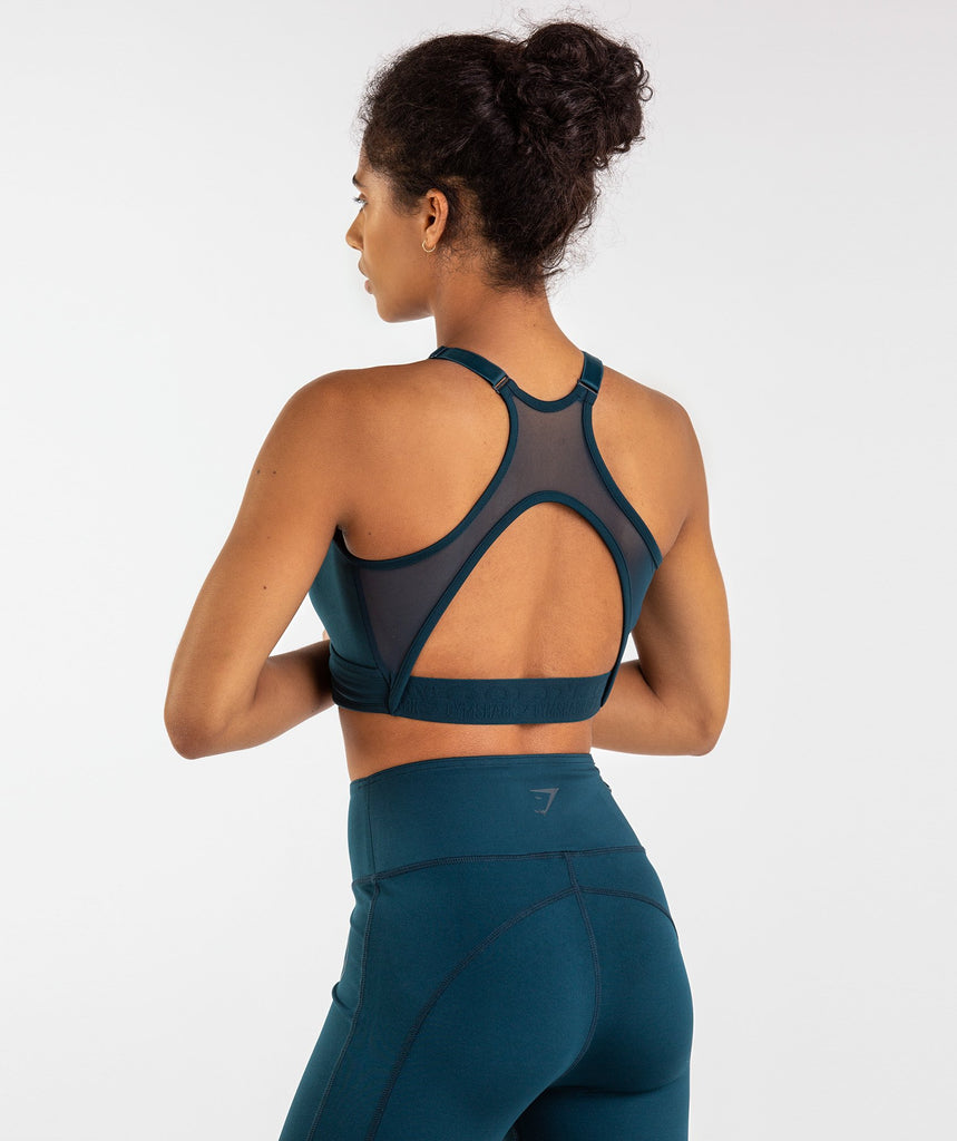 Gymshark Golds Gym Sports Bra - Lagoon Blue 2