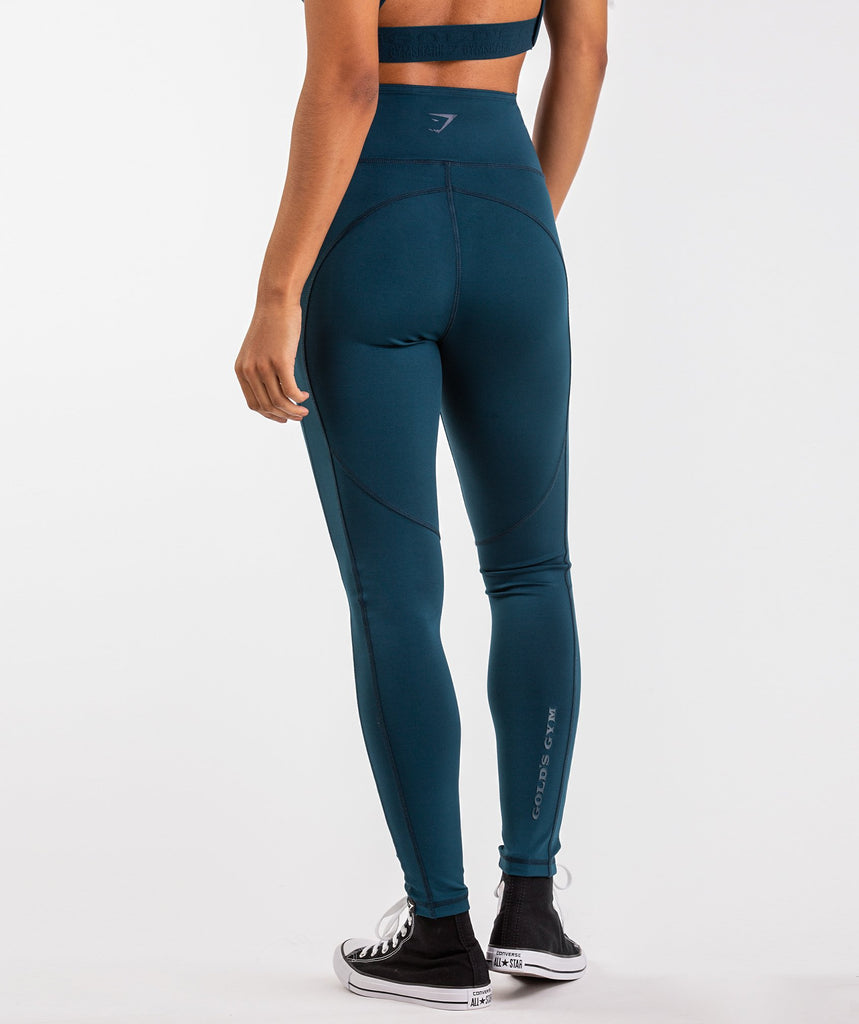Gymshark Golds Gym Leggings - Lagoon Blue 1