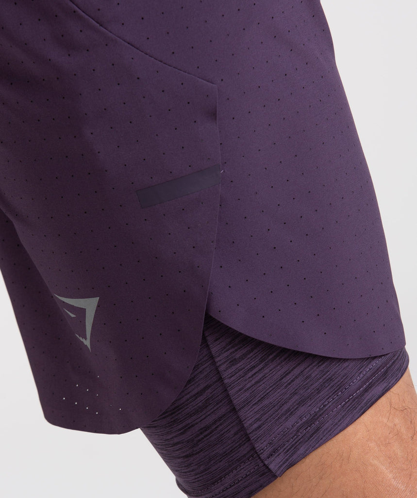 Gymshark Perforated Two In One Shorts - Nightshade Purple 5