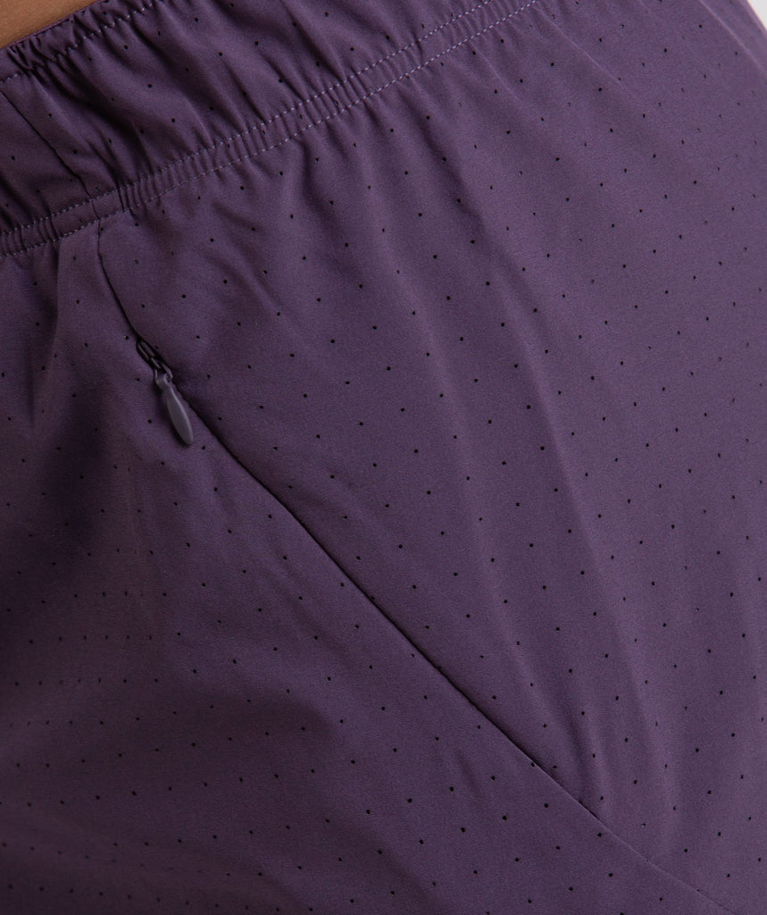 Gymshark Perforated Two In One Shorts - Nightshade Purple 6