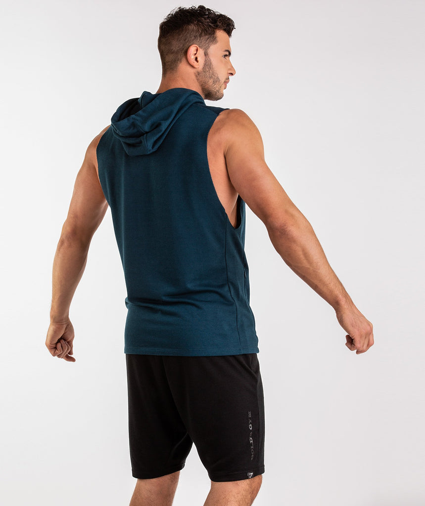 Gymshark Golds Gym Sleeveless Pullover - Lagoon Blue 2