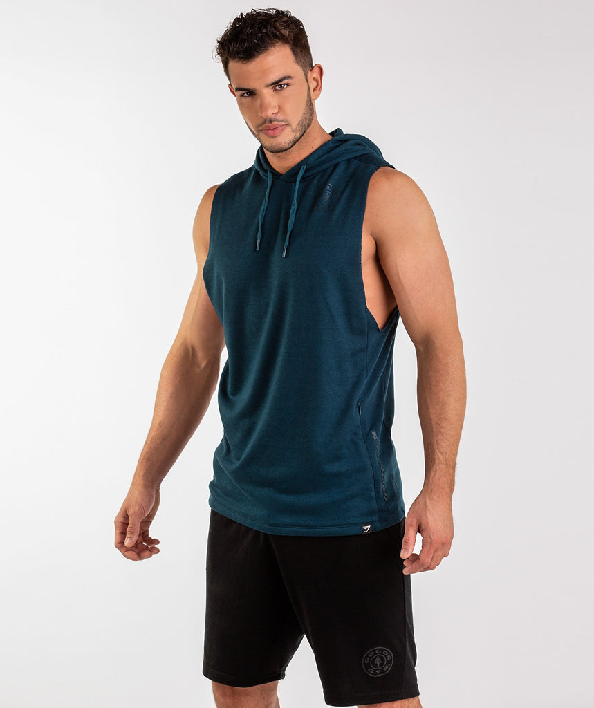 Gymshark Golds Gym Sleeveless Pullover - Lagoon Blue 1