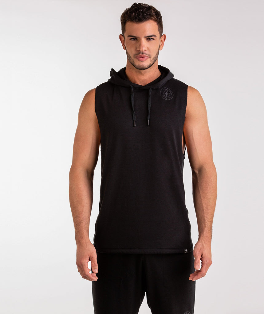 Gymshark Golds Gym Sleeveless Pullover - Black 2
