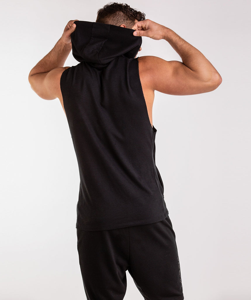 Gymshark Golds Gym Sleeveless Pullover - Black 1