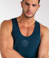 Gymshark Golds Gym Stringer - Lagoon Blue 11