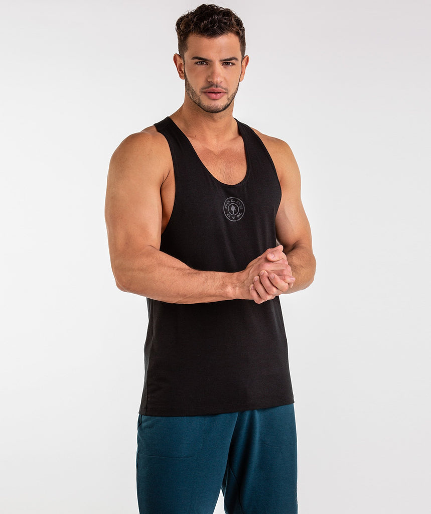 Gymshark Golds Gym Stringer - Black 2