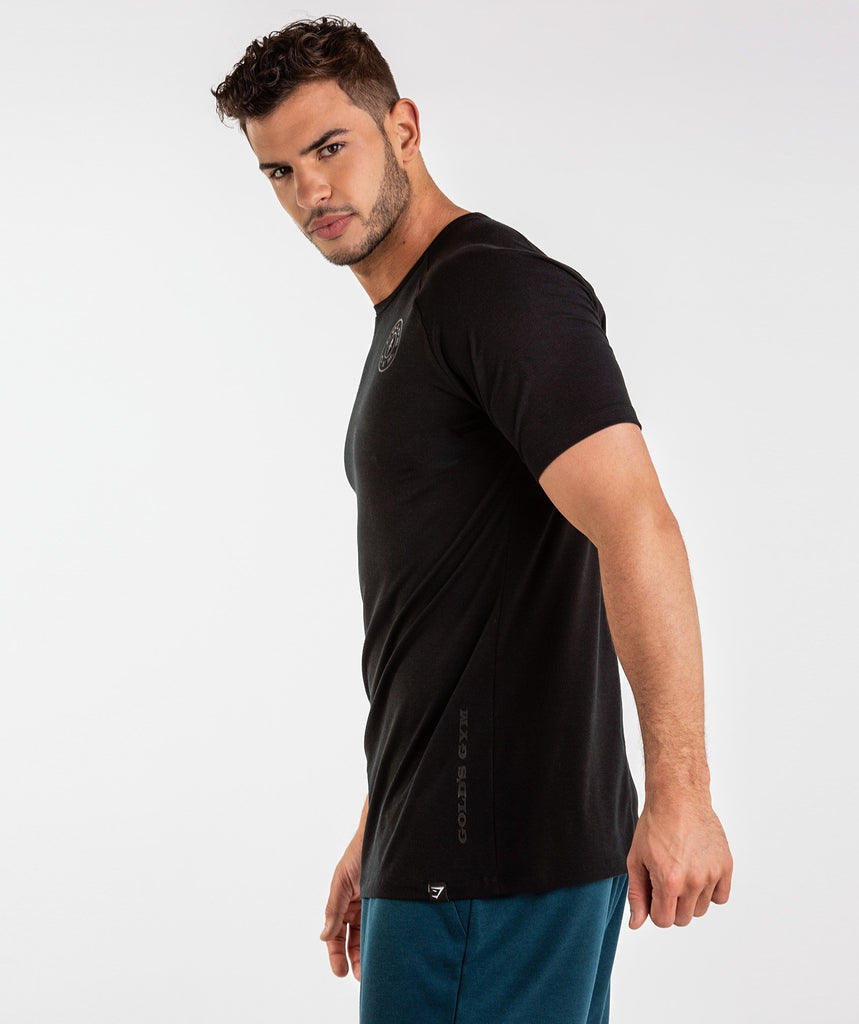 Gymshark Golds Gym T-Shirt - Black 1