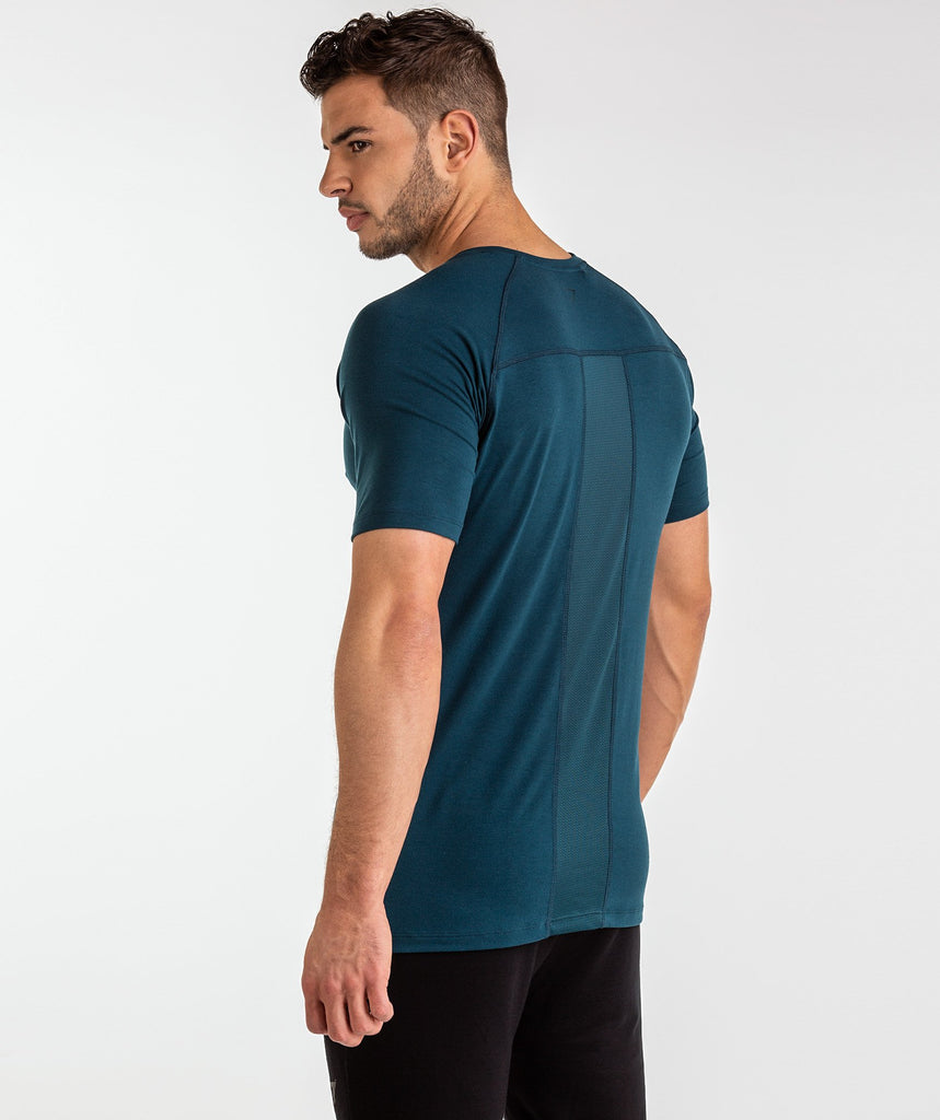 Gymshark Golds Gym T-Shirt - Lagoon Blue 2