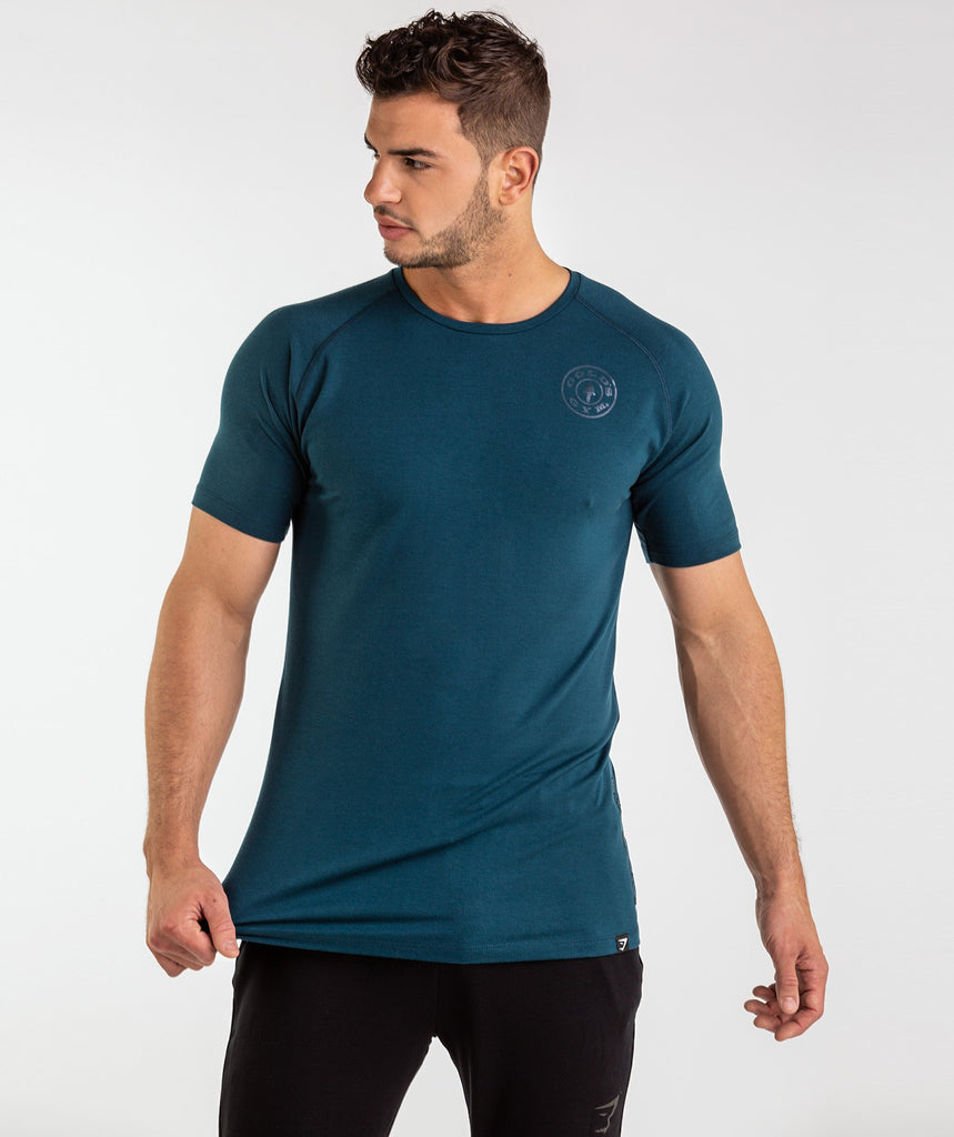 Gymshark Golds Gym T-Shirt - Lagoon Blue 1