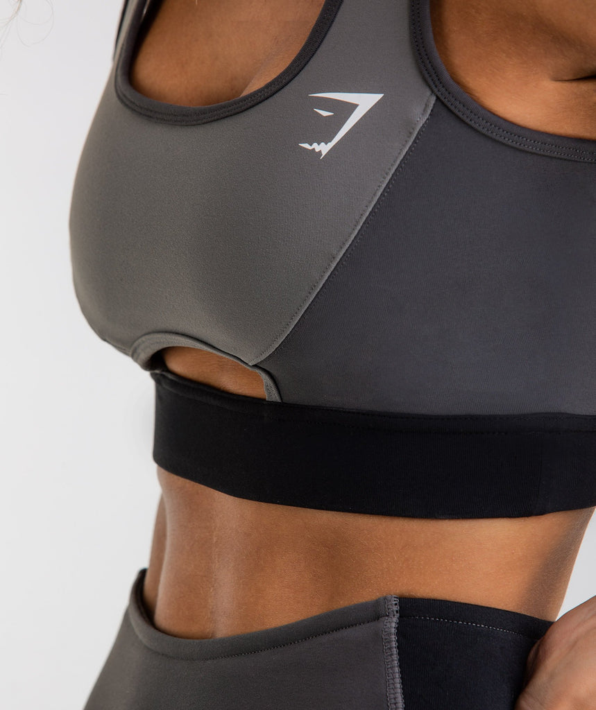 Gymshark Tonal Block Sports Bra - Black 5