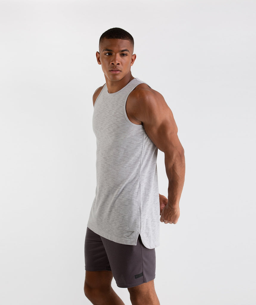 Gymshark Heather Tank - Rustic Grey Marl 2