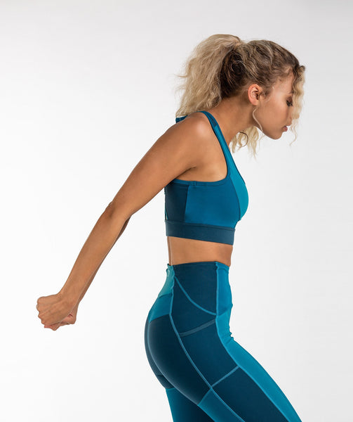 Gymshark Tonal Block Sports Bra - Deep Teal 4