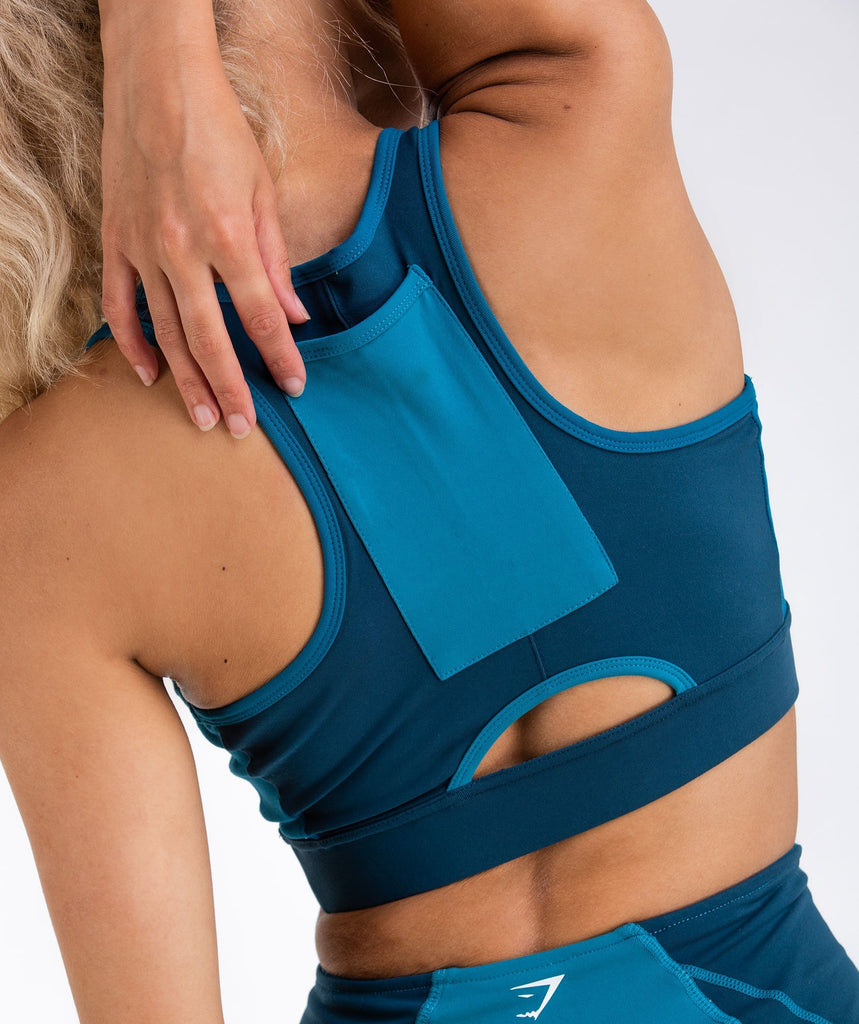 Gymshark Tonal Block Sports Bra - Deep Teal 6