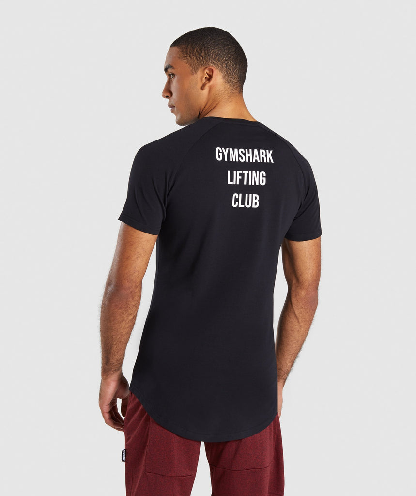Gymshark Lifting Club T-Shirt French - Black 2