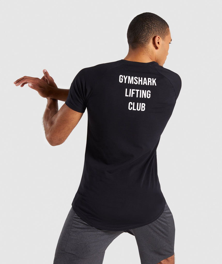 Gymshark Lifting Club T-Shirt Japanese - Black 2