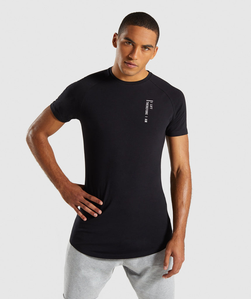 Gymshark Lifting Club T-Shirt English - Black 1