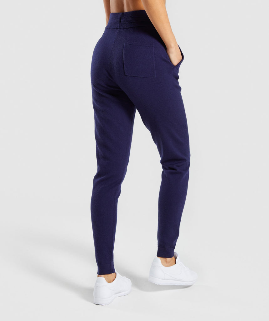 Gymshark Isla Knit Jogger - Evening Navy Blue 2