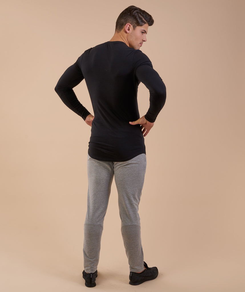 Gymshark Solace Longline Long Sleeve T-shirt - Black 2