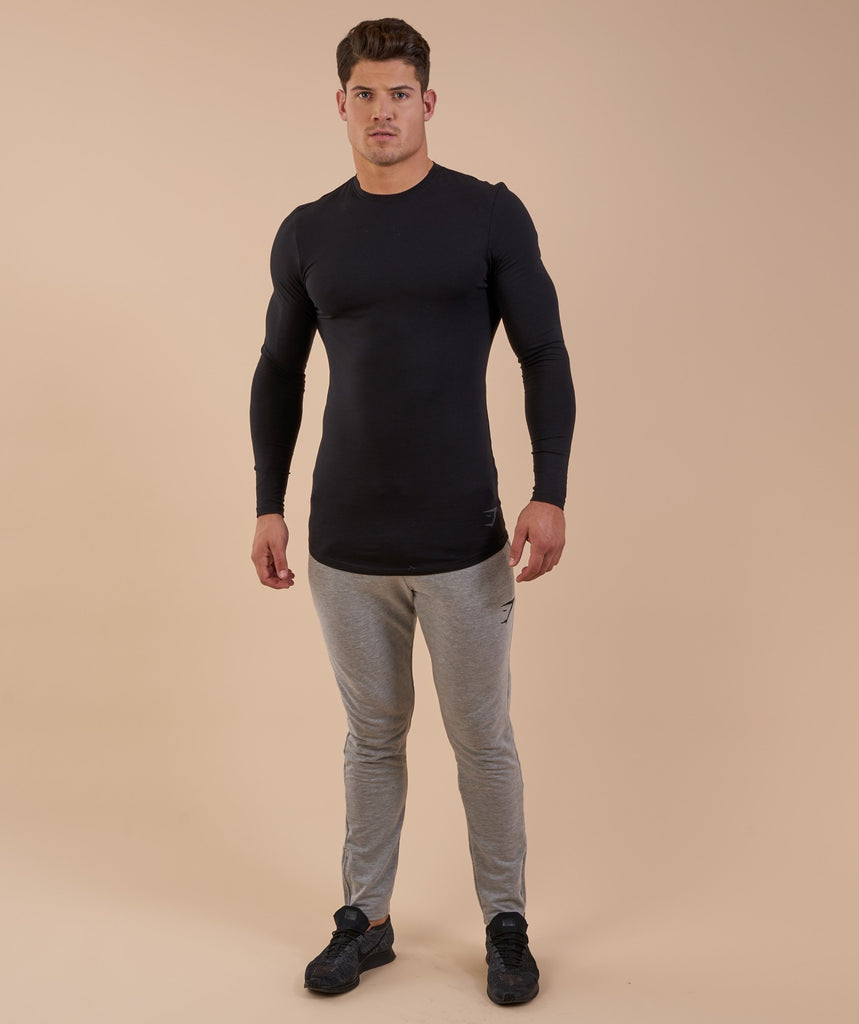 Gymshark Solace Longline Long Sleeve T-shirt - Black 1