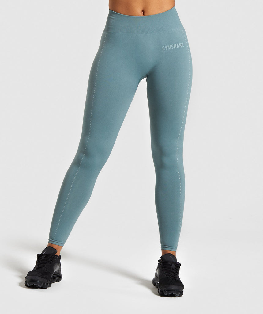 Gymshark Lightweight Seamless Tights - Turquoise 1