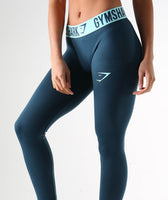 Gymshark Fit Leggings- Lagoon Blue/Mint Green 11