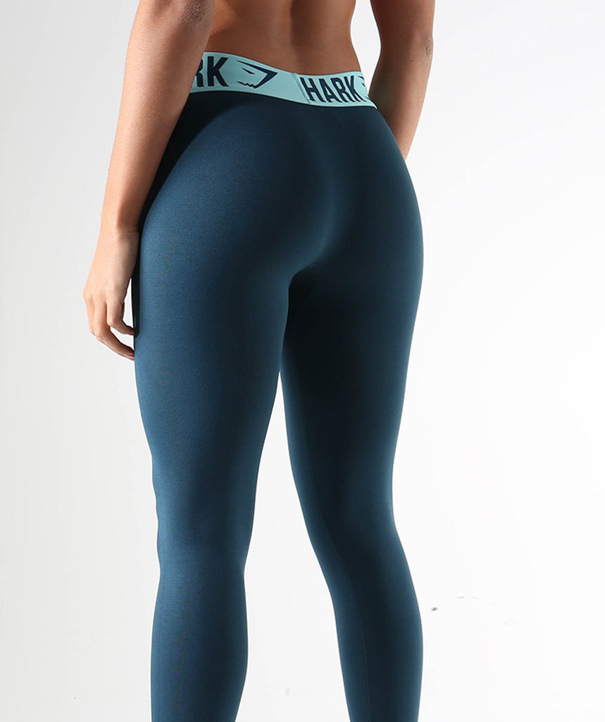 Gymshark Fit Leggings- Lagoon Blue/Mint Green 6