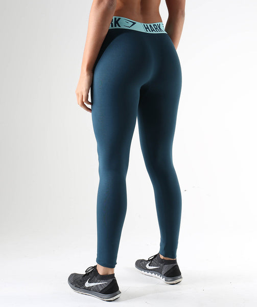 Gymshark Fit Leggings- Lagoon Blue/Mint Green 2