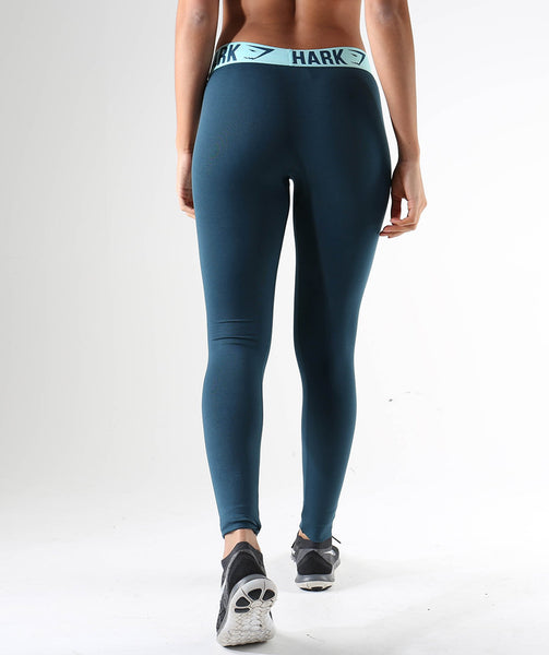 Gymshark Fit Leggings- Lagoon Blue/Mint Green 3