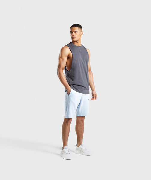 Gymshark Laundered Drop Arm Tank - Charcoal 4
