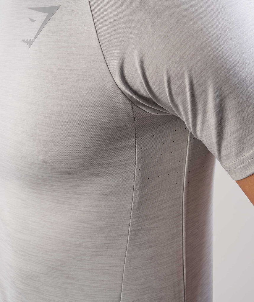 Gymshark Apex T-Shirt - Light Grey Marl 6