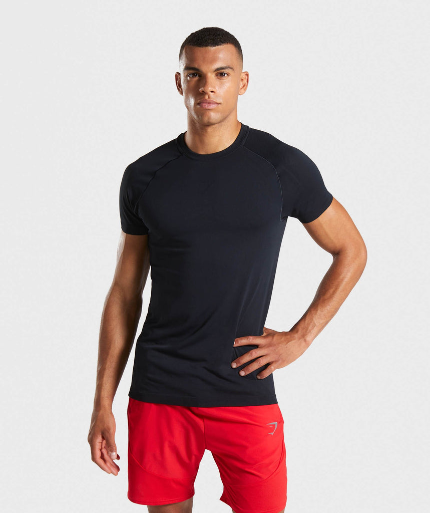 Gymshark Lightweight Seamless T-Shirt - Black 1