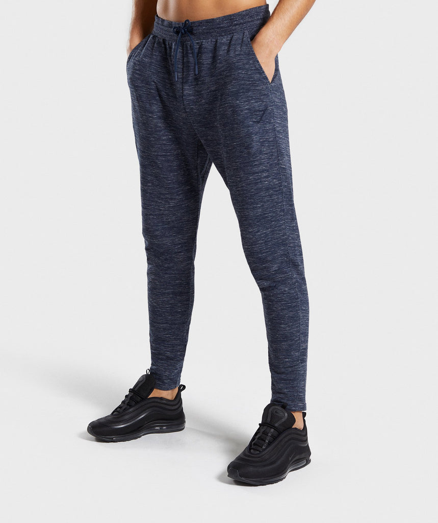 Gymshark Lounge Joggers - Navy Marl 1