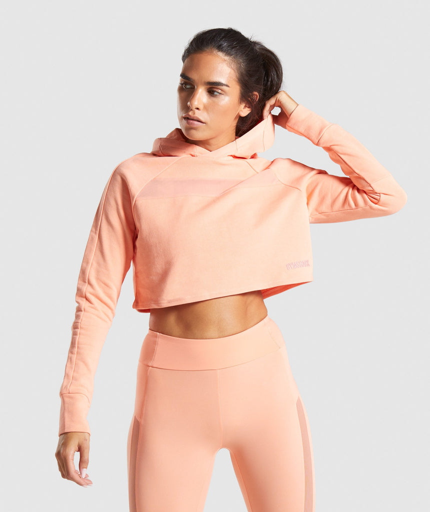 Gymshark Move Cropped Hoodie - Peach 1