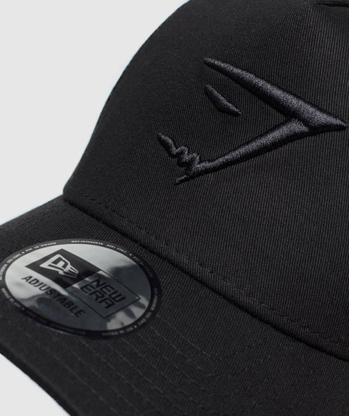 Gymshark New Era Mesh Trucker - Black/Black 2