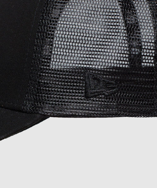 Gymshark New Era Mesh Trucker - Black/Black 3