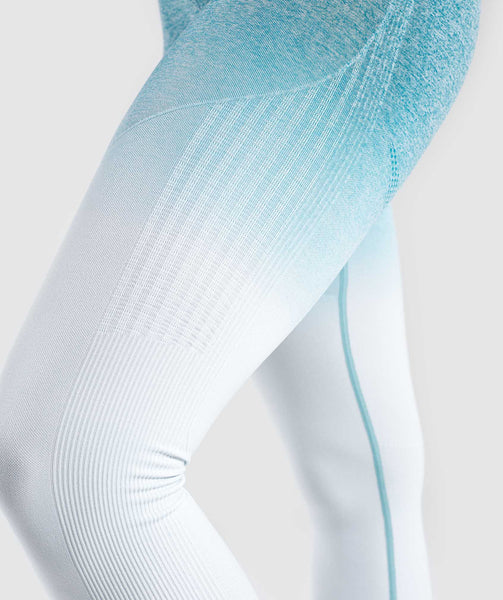 Gymshark Ombre Seamless Leggings  - Deep Teal/Ice Blue 4