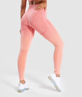Gymshark Ombre Seamless Leggings  - Peach Coral 8