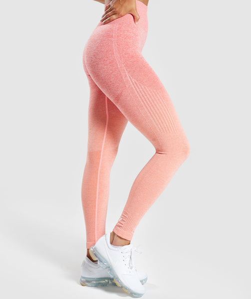 Gymshark Ombre Seamless Leggings  - Peach Coral 2