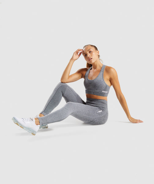 Gymshark Ombre Seamless Sports Bra  - Black/Light Grey 3